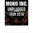 Tourposter MONO INC. Unplugged DIN A 1