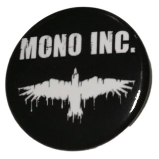 Button MONO INC. Logo Raven