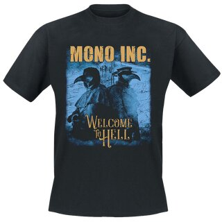 T-Shirt MONO INC. Welcome To Hell Festival Tour 2019 S