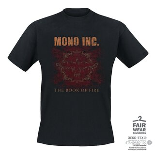 T-Shirt MONO INC. The Book Of Fire XL