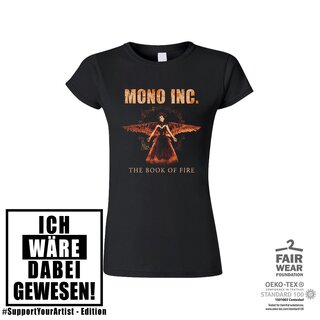 #SupportYourArtist-Girl-Shirt MONO INC. The Book of Fire Tour 3XL