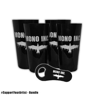 #SupportYourArtist bundle - 4 cups MONO INC. + free bottle opener