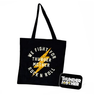 Bundle - Shopper + Kühlschrankmagnet Thundermother